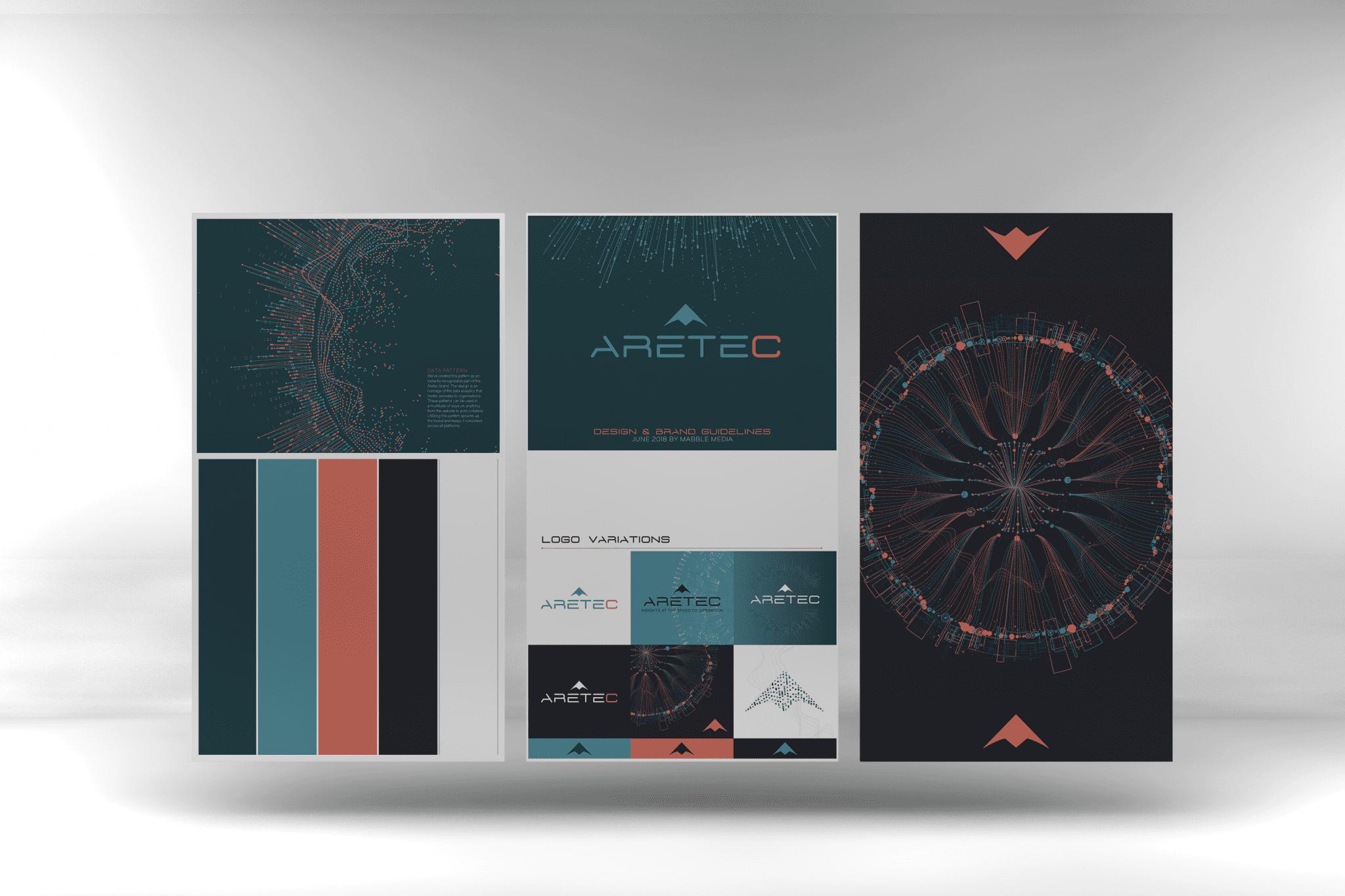 Mabble Media - Creative Agency | Aretec Logo | Brand Guide | Print