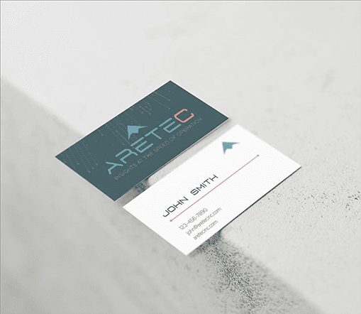 Mabble Media - Creative Agency | Aretec Logo | Brand Guide | Print