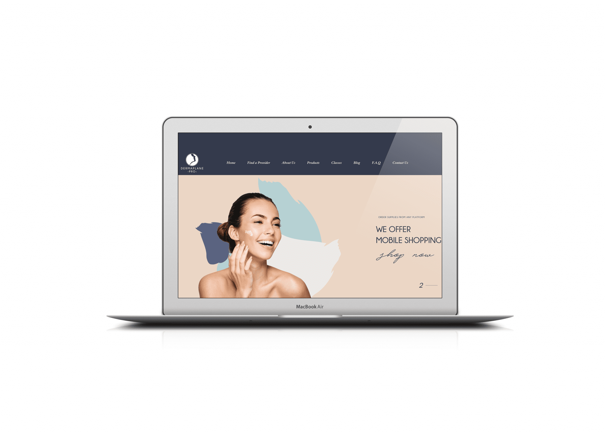 Mabble Media - Creative Agency | Dermaplane Website