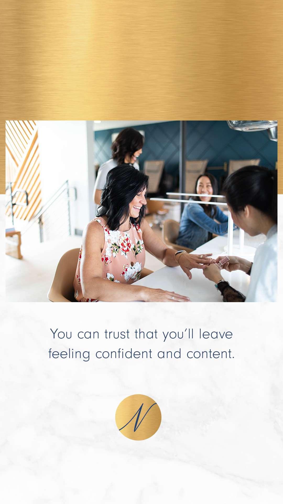 Mabble Media - Creative Agency   Nirvana Beauty Lounge Logo   Website   Photography   Social Strategy   Copywriting   SEO - Graphic