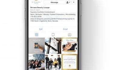 Mabble Media - Creative Agency   Nirvana Beauty Lounge Logo   Website   Photography   Social Strategy   Copywriting   SEO - Iphone Website Graphic
