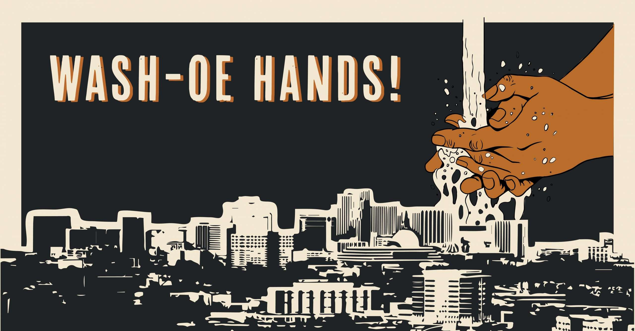 Mabble Media - Creative Agency | Announcing Wash-oe Hands - Graphic Print